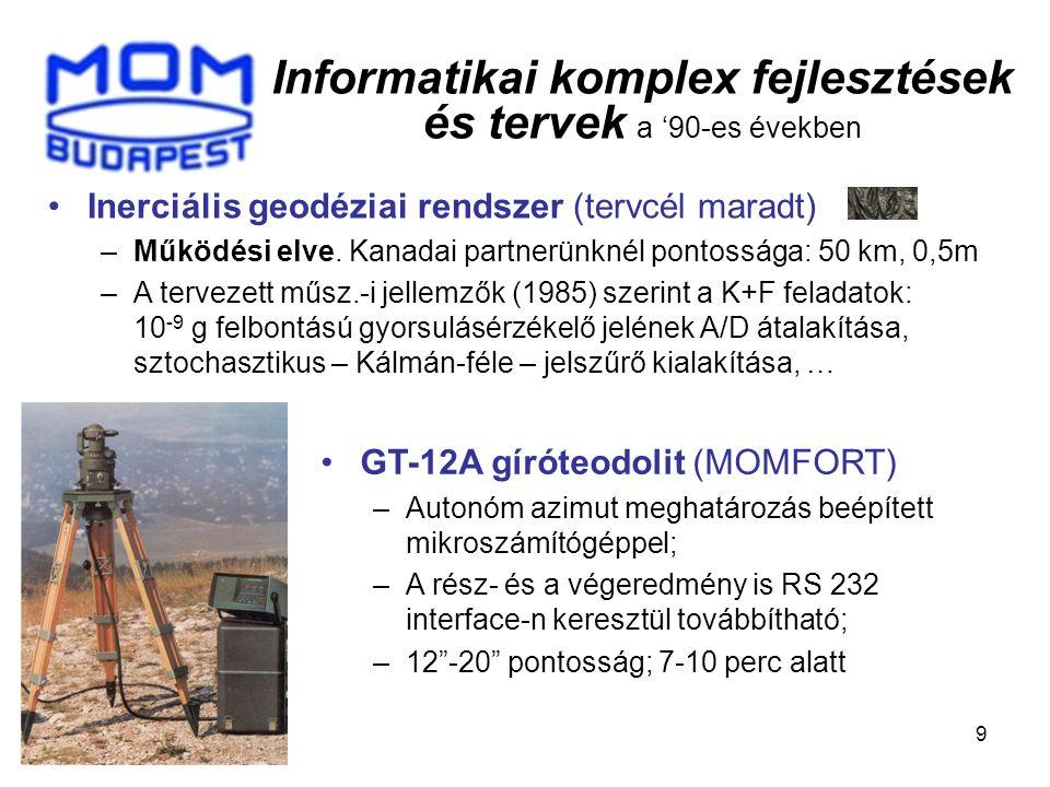 Az egykori geodéziai fejlesztéseink helyszínei Köszönöm eddigi figyelmüket.