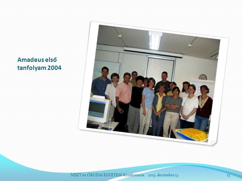 Amadeus első tanfolyam 2004 NJSZT és ÓBUDAI EGYETEM Konferencia 2013. december 13.13