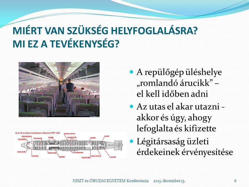 AZ AUTOMATIZÁLÁS ELŐTT – ŐSKOR NJSZT és ÓBUDAI EGYETEM Konferencia 2013. december 13.7
