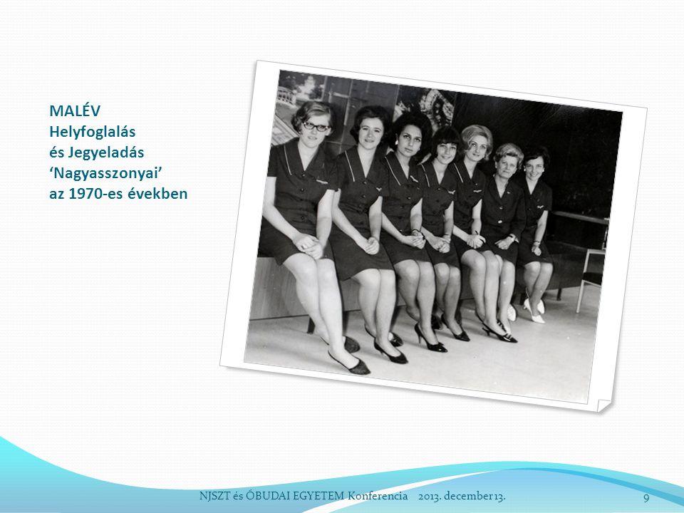 MALÉV Helyfoglalás és Jegyeladás 'Nagyasszonyai' az 1970-es években NJSZT és ÓBUDAI EGYETEM Konferencia 2013.