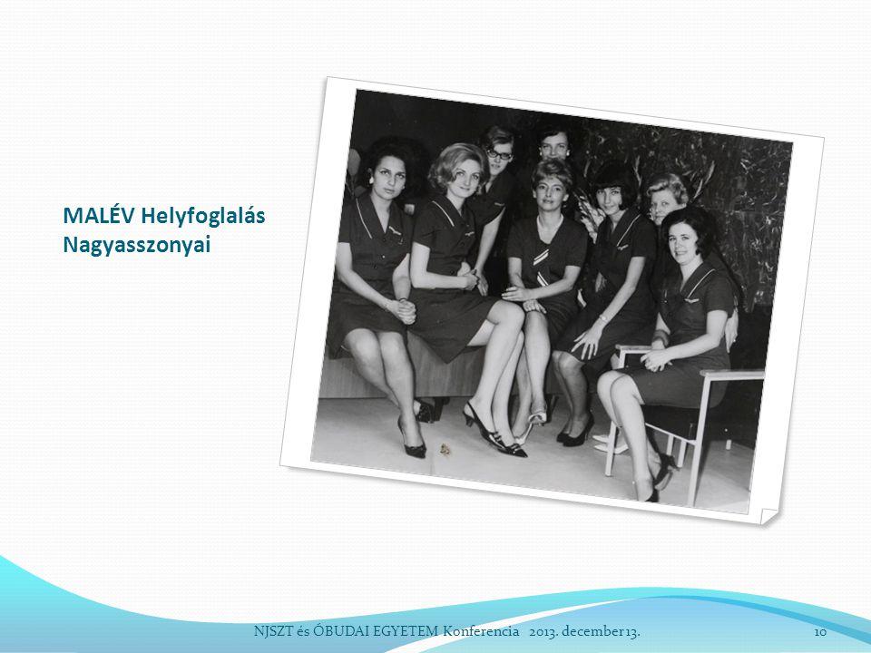 MALÉV Helyfoglalás Nagyasszonyai NJSZT és ÓBUDAI EGYETEM Konferencia 2013. december 13.10