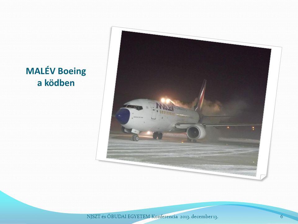 MALÉV Boeing a ködben NJSZT és ÓBUDAI EGYETEM Konferencia 2013. december 13.6