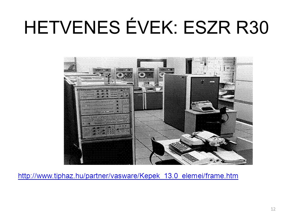 12 HETVENES ÉVEK: ESZR R30 http://www.tiphaz.hu/partner/vasware/Kepek_13.0_elemei/frame.htm
