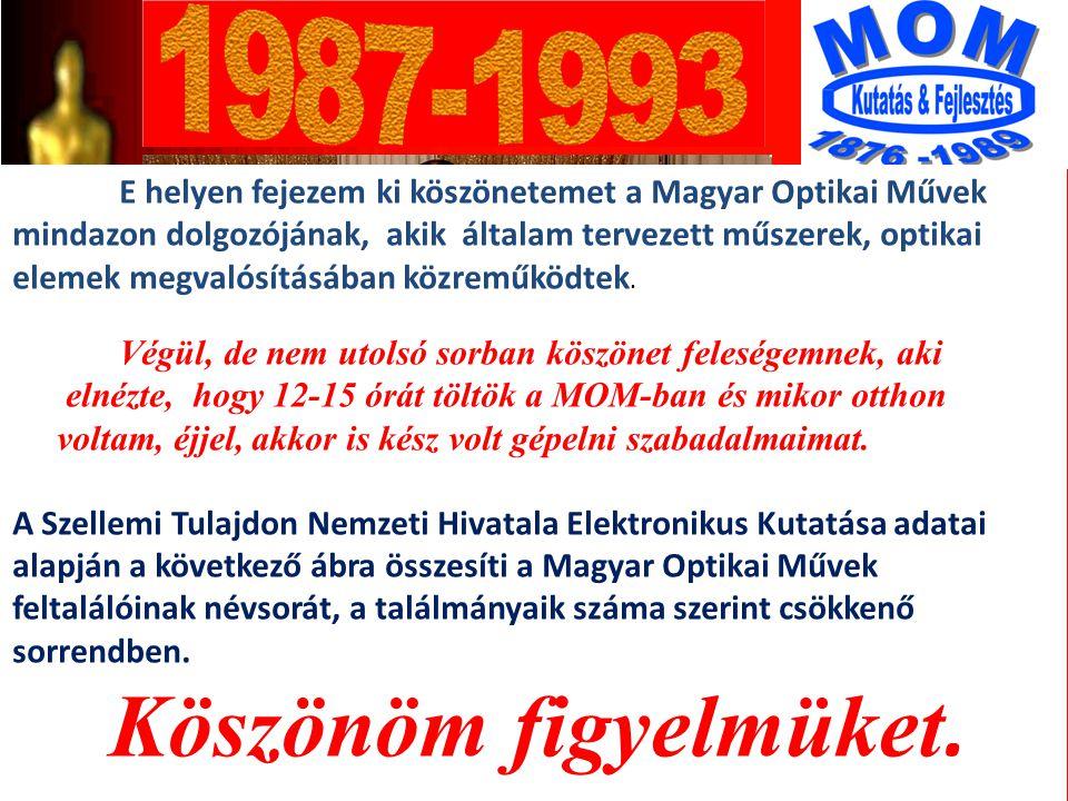8 A díj átadás után Angie Dickinson-nal az ISCO fönökével ISCO Optic 35mm Ulrastar Anamorf Lisziewicz Antal 19 * * Találmányok száma az NSZK-ban: 1986