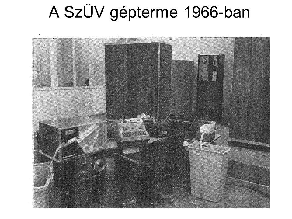 A SzÜV gépterme 1966-ban