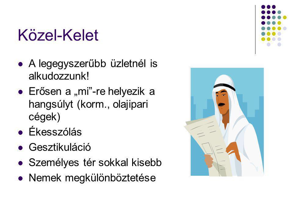 Közel-Kelet A legegyszerűbb üzletnél is alkudozzunk.