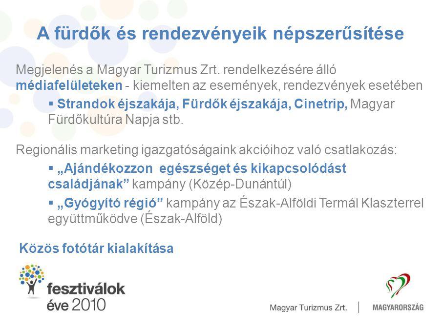 Megjelenés a Magyar Turizmus Zrt. rendelkezésére álló médiafelületeken - kiemelten az események, rendezvények esetében  Strandok éjszakája, Fürdők éj