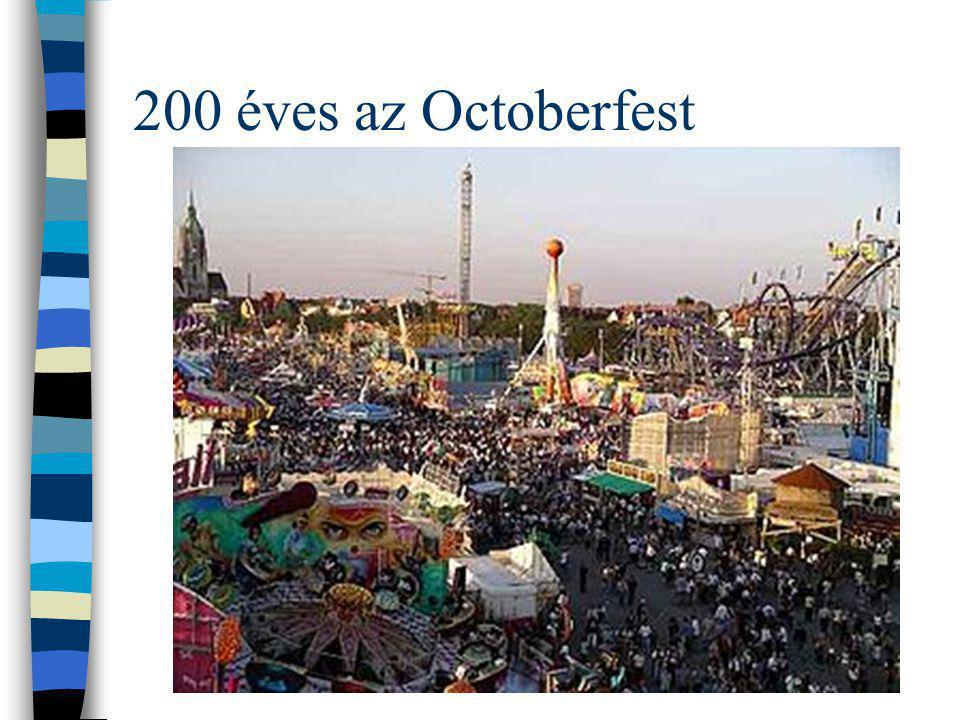 """Wiesn=Octoberfest A müncheni Oktoberfest (a németek a helyszín után """"Wiesn -nek is nevezik) a világ legnagyobb népünnepélye.müncheni 1810 óta évről évre több millió ember látogatja a Theresienwiesén megtartott eseményt."""