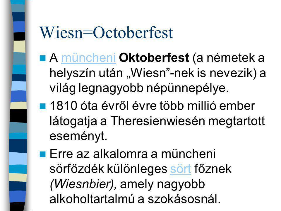 Története Az Oktoberfestet összehasonlítva a többi tradicionális német ünnepséggel, viszonylag rövid története van.