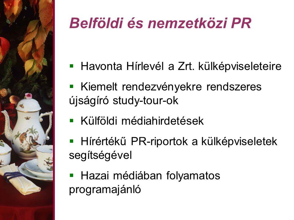 Belföldi és nemzetközi PR  Havonta Hírlevél a Zrt.