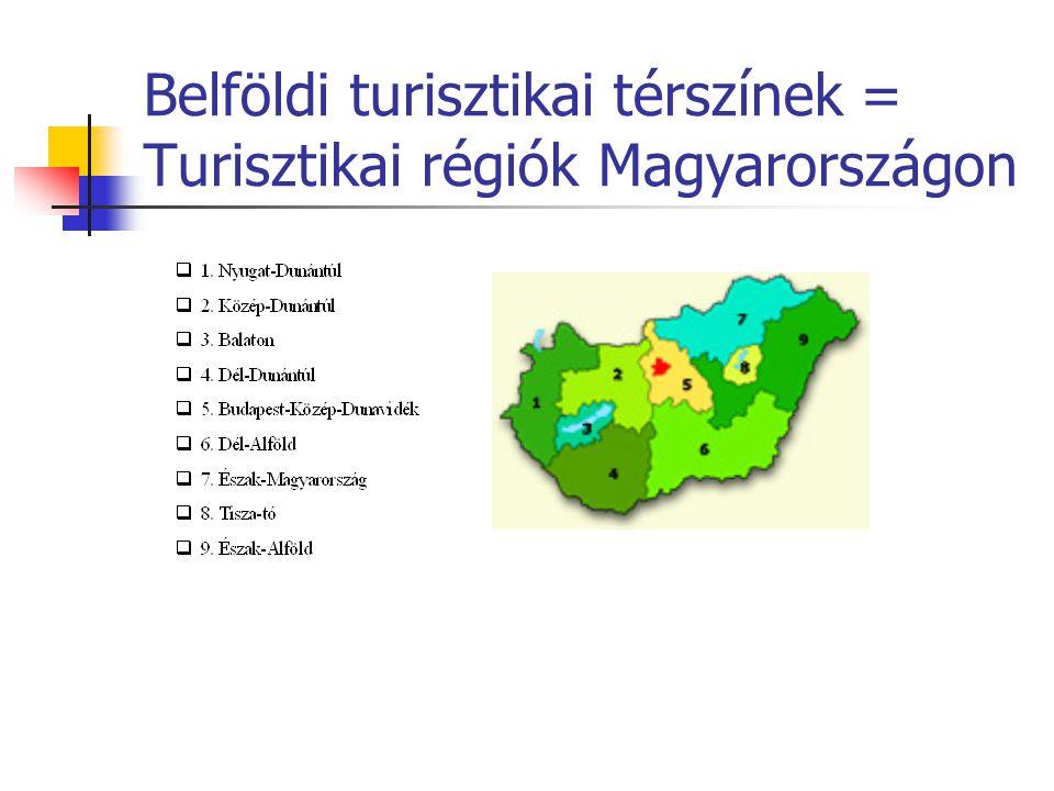 Belföldi turisztikai térszínek = Turisztikai régiók Magyarországon
