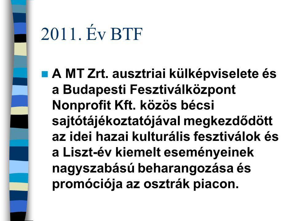 Statisztika 2010. 1,29 milliárd forintból megrendezett fesztivált az Önkormányzati Minisztérium (ÖM) és a Fővárosi Önkormányzat mellett támogató Kultu