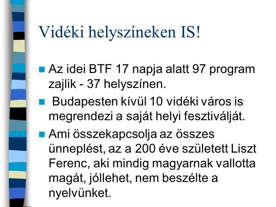 31. BTF költségvetése a minisztérium 250 millió forinttal járult hozzá, mert a keret zsugorodott az Új Széchenyi Tervben kiemelt szerepet fog kapni a