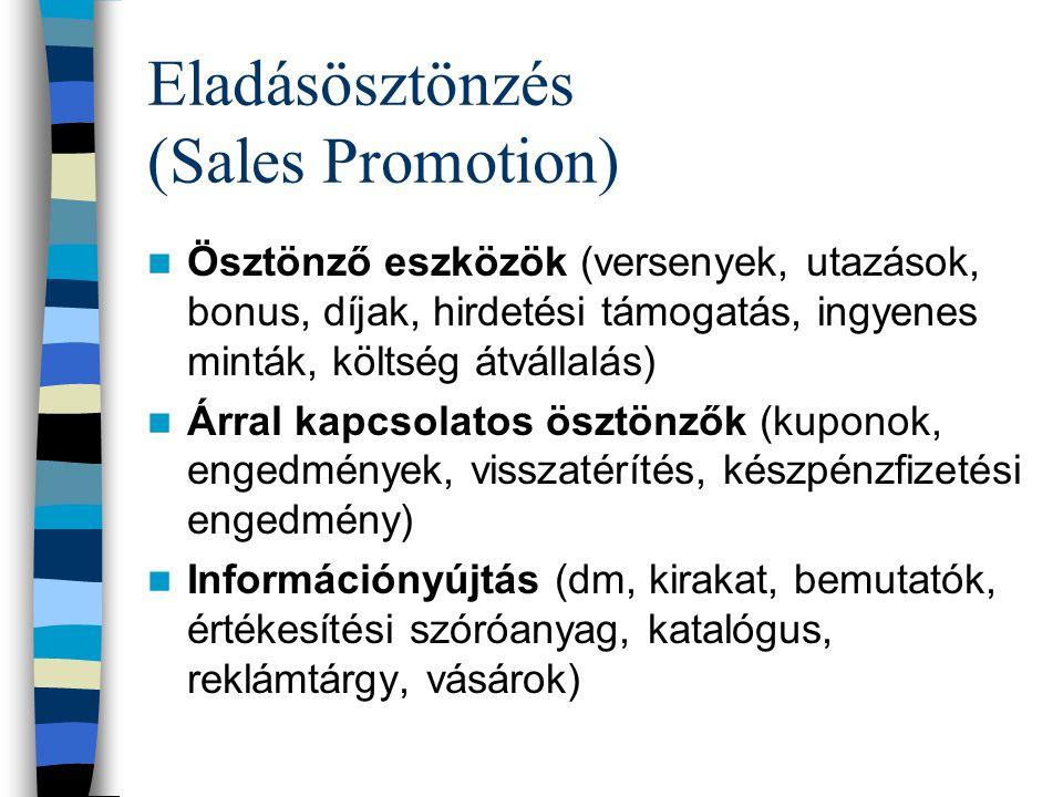 PS = Personal Selling Személyes értékesítés (Pl.: szállodai recepciós értékesít) Módja: –szemtől szemben –Telefonon Potenciális turistákhoz szól, azon
