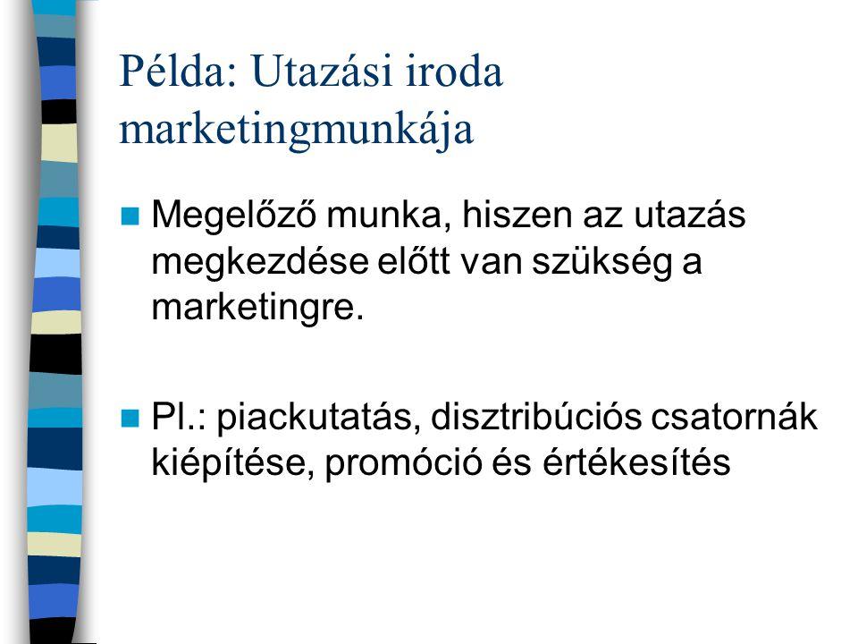 1. Szervezet kialakítása A marketing az egész vállalat feladata. Régen: marketingosztályok feladata volt a marketing Ma: mindenki foglalkozik marketin