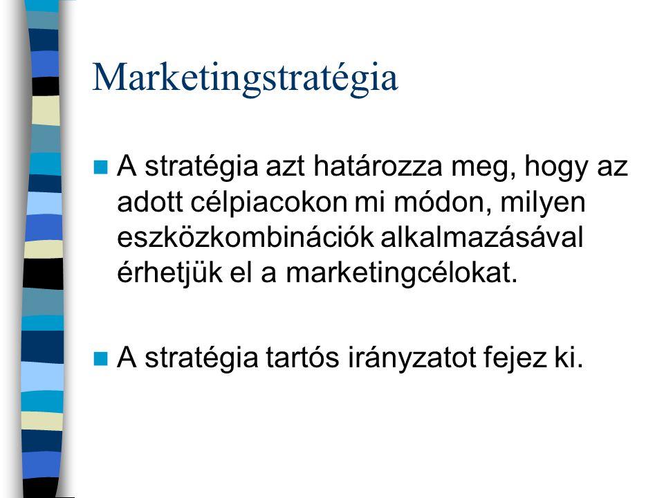 3. Marketingstratégia Hogyan jutunk el a célhoz?