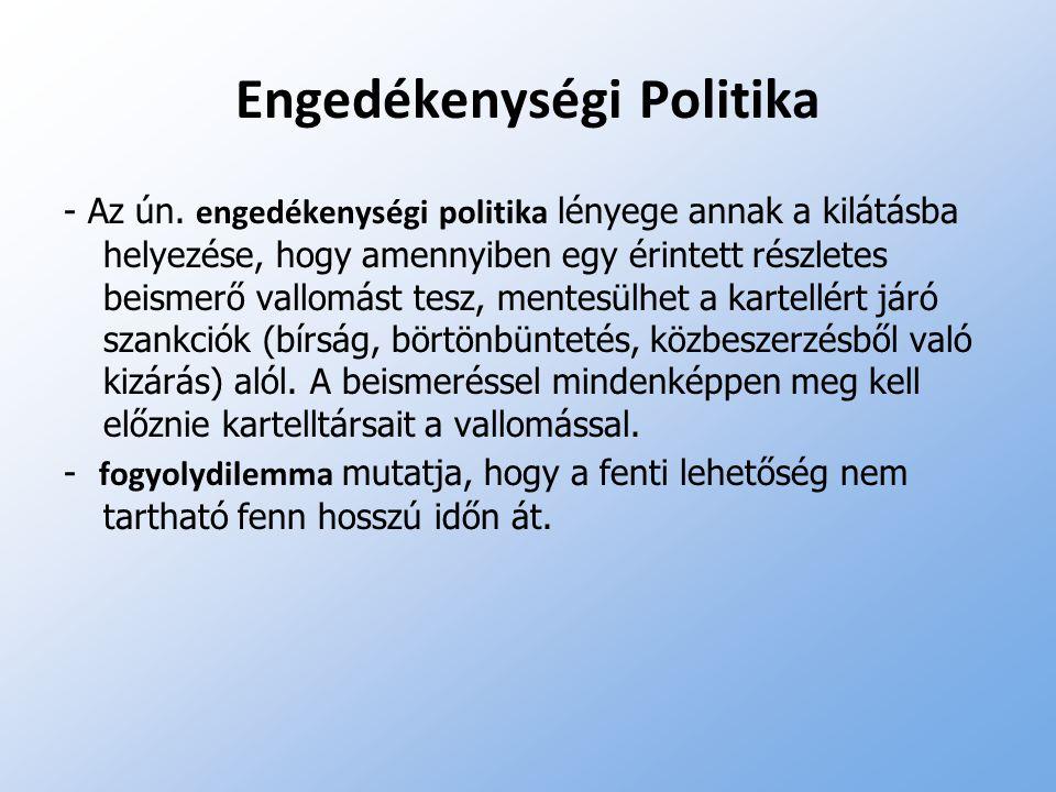 Engedékenységi Politika - Az ún. engedékenységi politika lényege annak a kilátásba helyezése, hogy amennyiben egy érintett részletes beismerő vallomás