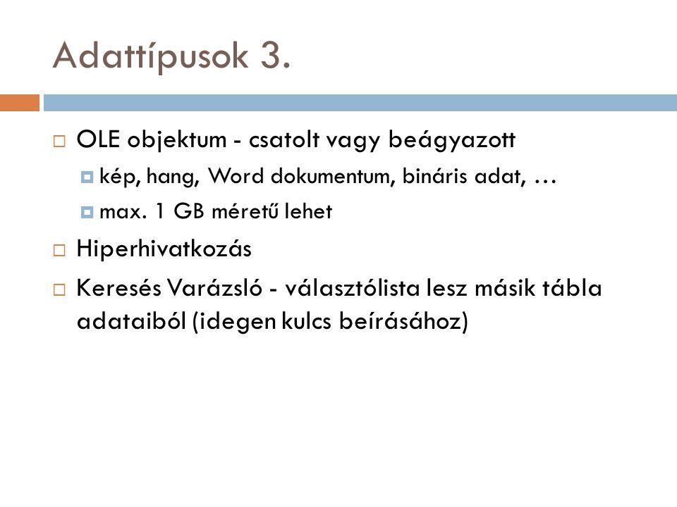 Adattípusok 3.
