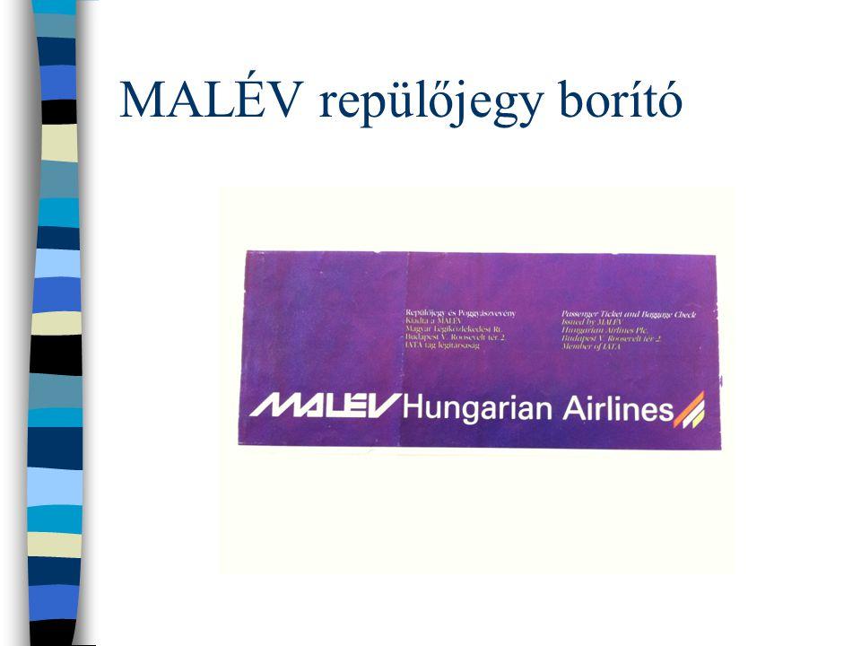 MALÉV repülőjegy borító