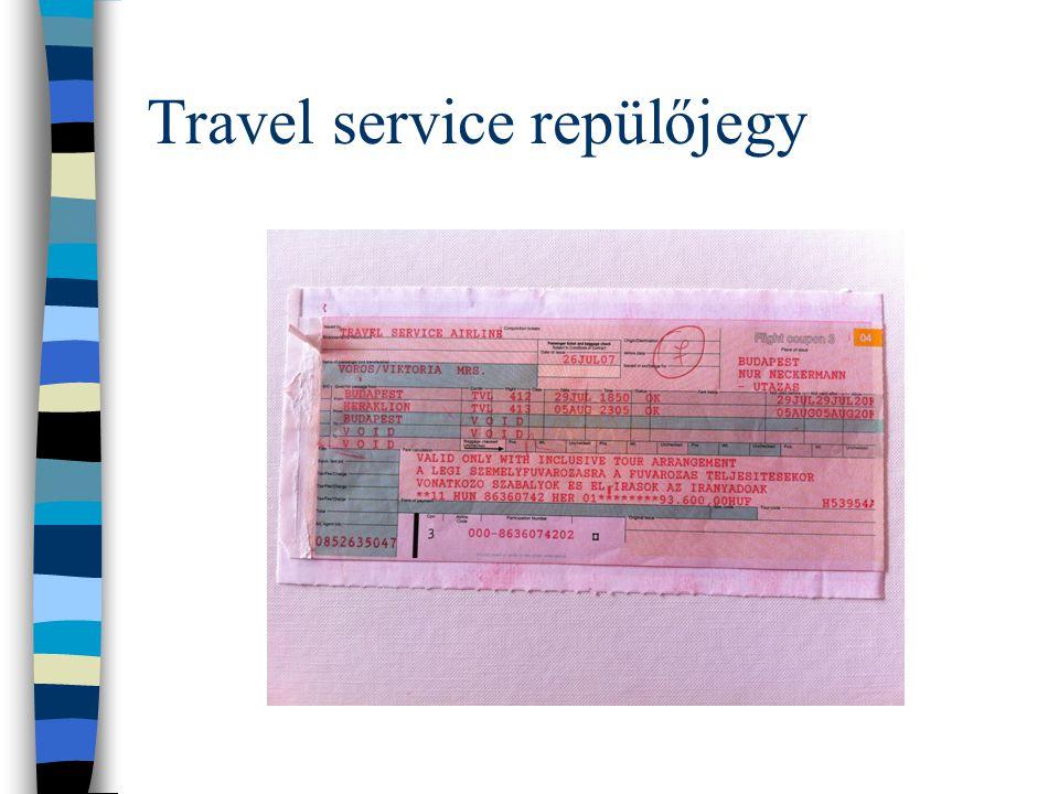 Travel service repülőjegy