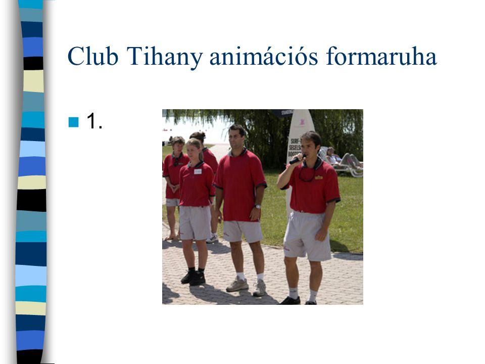 Club Tihany névjegykártya 1.