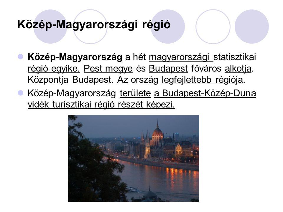 Közép-Magyarországi régió Közép-Magyarország a hét magyarországi statisztikai régió egyike. Pest megye és Budapest főváros alkotja. Központja Budapest