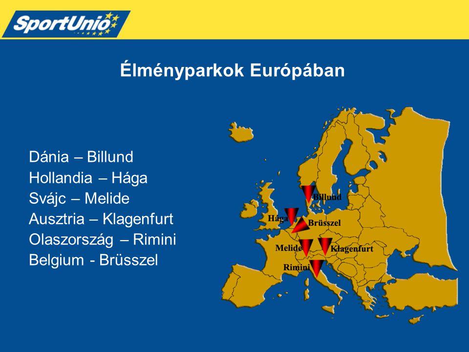 Élményparkok Európában Dánia – Billund Hollandia – Hága Svájc – Melide Ausztria – Klagenfurt Olaszország – Rimini Belgium - Brüsszel