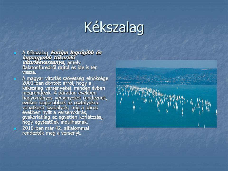 Kékszalag A Kékszalag Európa legrégibb és legnagyobb tókerülő vitorlásversenye, amely Balatonfüredről rajtol és ide is tér vissza. A Kékszalag Európa