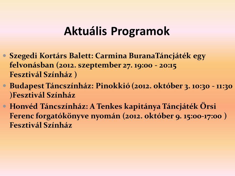 Aktuális Programok Szegedi Kortárs Balett: Carmina BuranaTáncjáték egy felvonásban (2012. szeptember 27. 19:00 - 20:15 Fesztivál Színház ) Budapest Tá