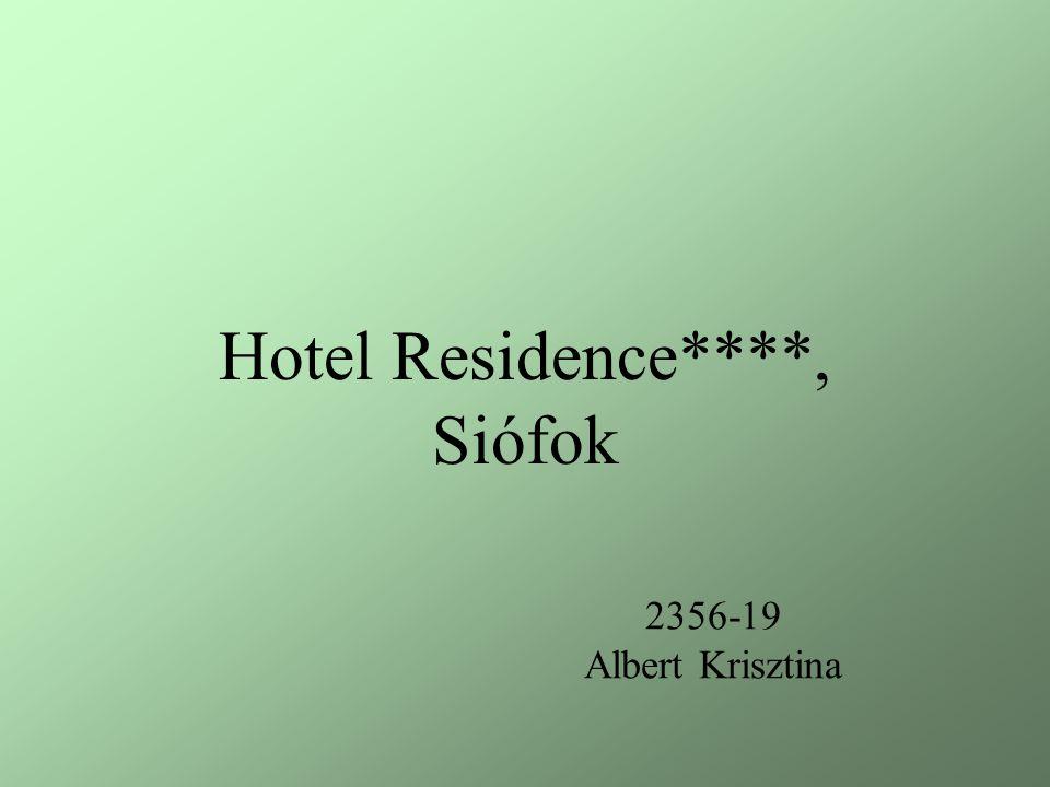 2356-19 Albert Krisztina Hotel Residence****, Siófok