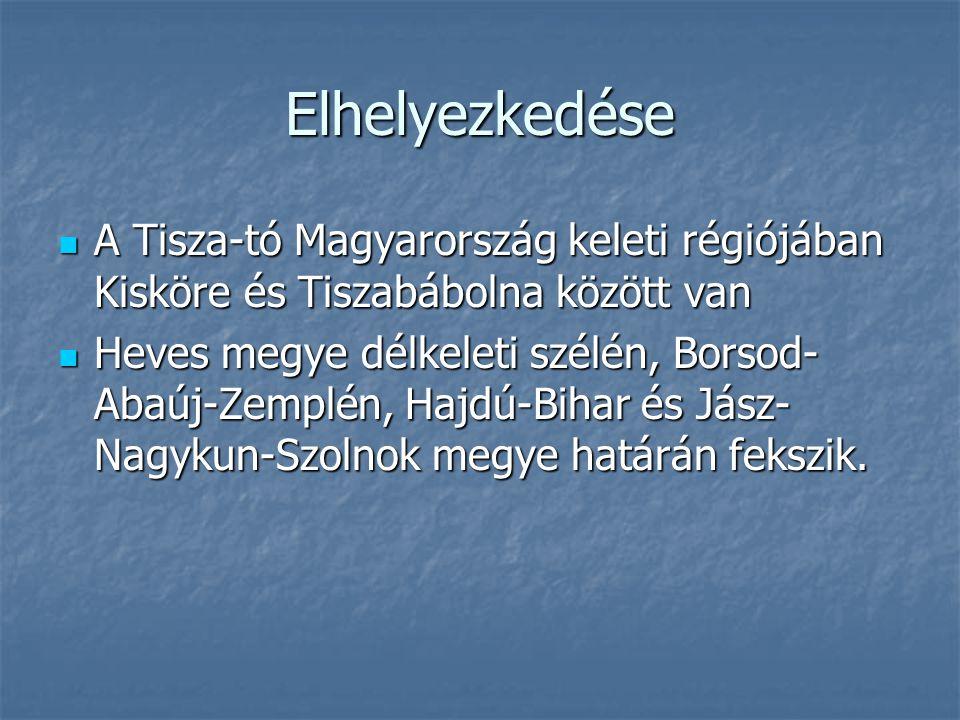 Elhelyezkedése A Tisza-tó Magyarország keleti régiójában Kisköre és Tiszabábolna között van A Tisza-tó Magyarország keleti régiójában Kisköre és Tisza