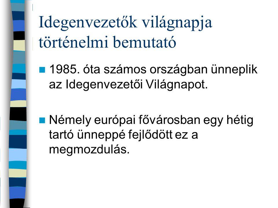 Idegenvezetők világnapja történelmi bemutató 1985.