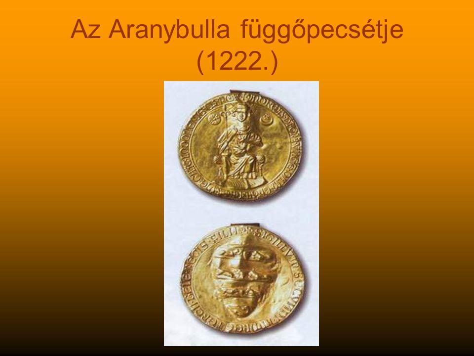 Az Aranybulla függőpecsétje (1222.)