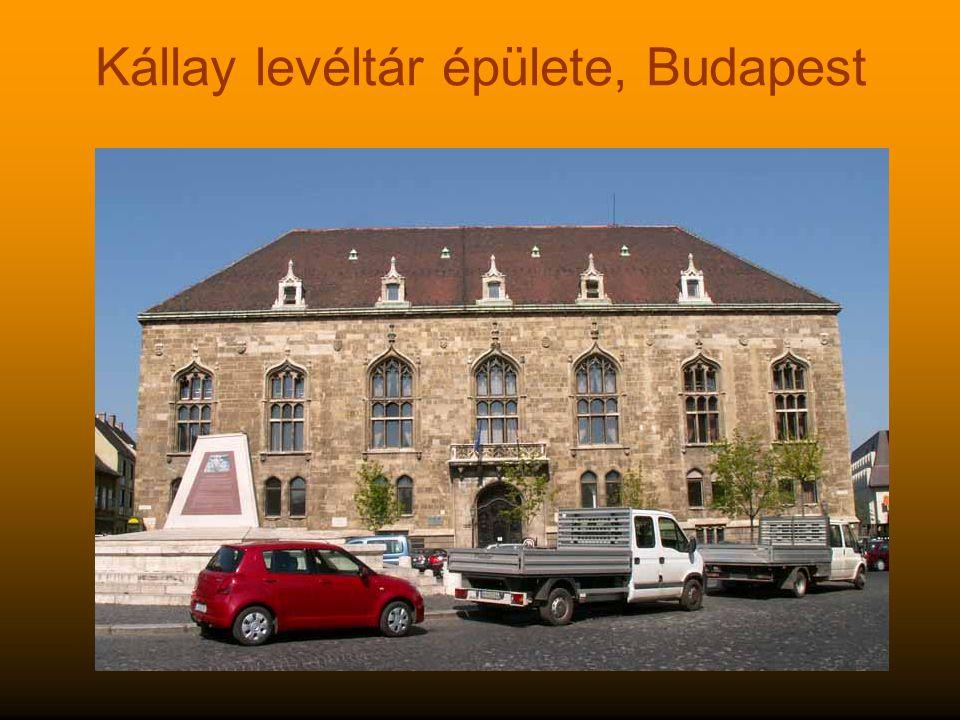 Kállay levéltár épülete, Budapest