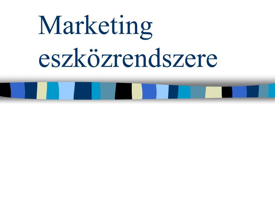 Marketingmixnek nevezzük A marketing eszközeit mindig úgy kell kiválasztani, hogy a hatás OPTIMÁLIS legyen.
