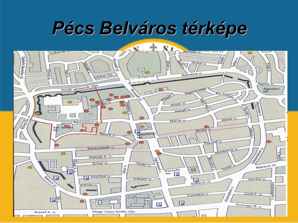 Pécs Belváros térképe