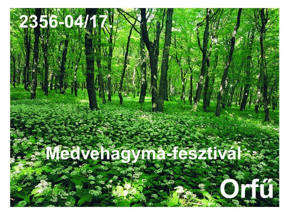 Medvehagyma-fesztivál Orfű 2356-04/17.