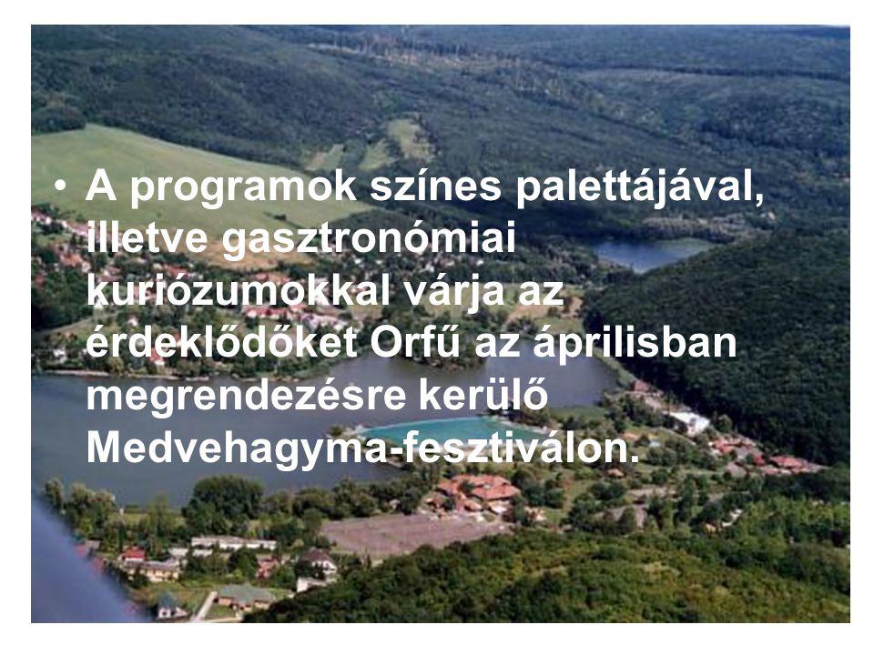 A programok színes palettájával, illetve gasztronómiai kuriózumokkal várja az érdeklődőket Orfű az áprilisban megrendezésre kerülő Medvehagyma-fesztiválon.
