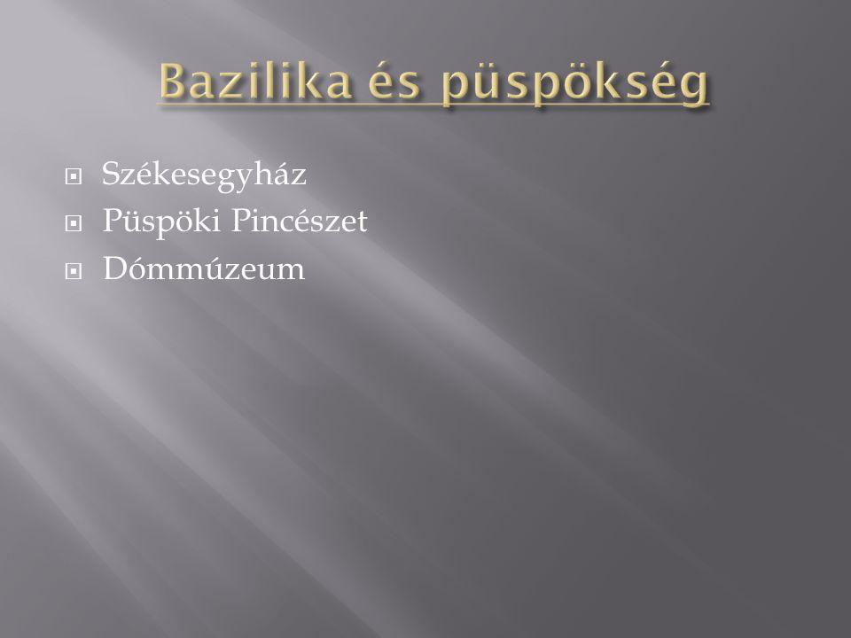  Székesegyház  Püspöki Pincészet  Dómmúzeum