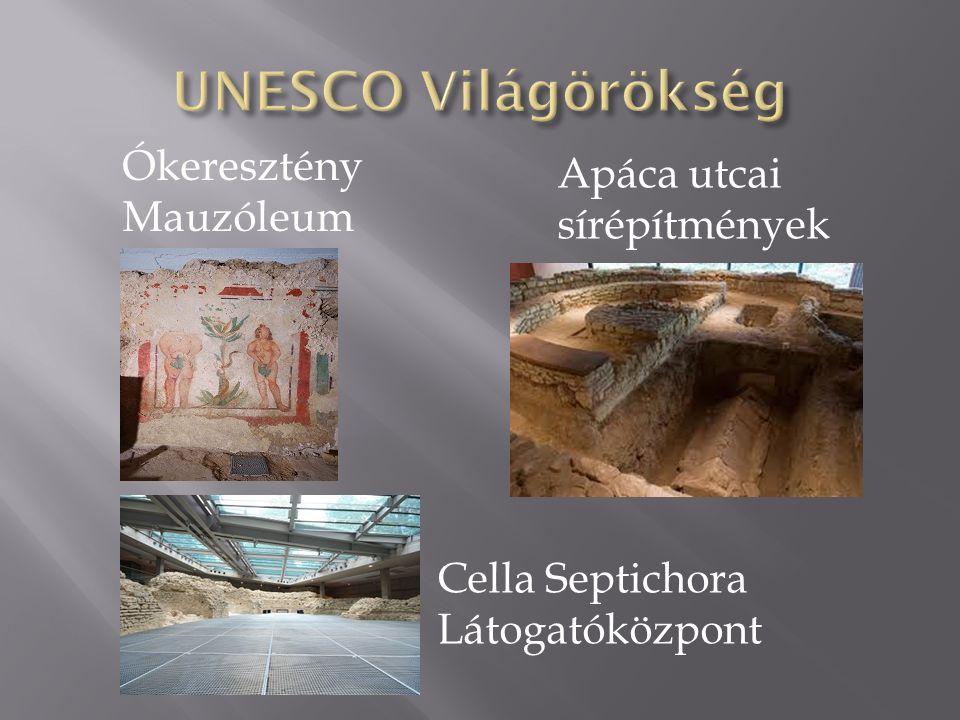Cella Septichora Látogatóközpont Apáca utcai sírépítmények Ókeresztény Mauzóleum