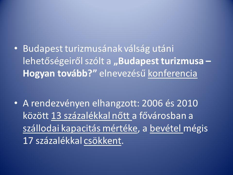 """Budapest turizmusának válság utáni lehetőségeiről szólt a """"Budapest turizmusa – Hogyan tovább?"""" elnevezésű konferencia A rendezvényen elhangzott: 2006"""