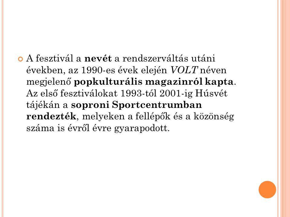 A növekvő népszerűség okán, 2002-ben a rendezvény állandó helyszíne és időpontja is megváltozott, ekkor a Volt (immár a Sziget Fesztivál társfesztiváljaként ) nyári fesztivál lá változott és a pár napos időtartamra minden évben a soproni Lővérekben bérel helyet a bulizni vágyó fiatalok számára.