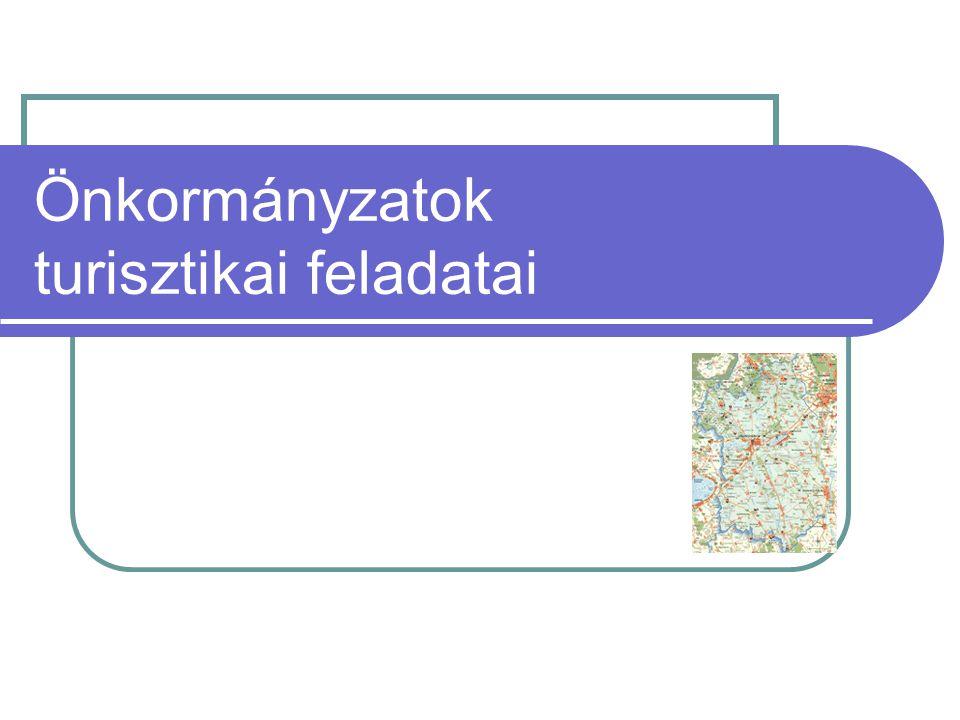 Önkormányzati feladatok Koncepció, stratégia készítése Szabályozás (jogi, adó) Településmarketing, promóció Részvétel a fejlesztésben, beruházásban