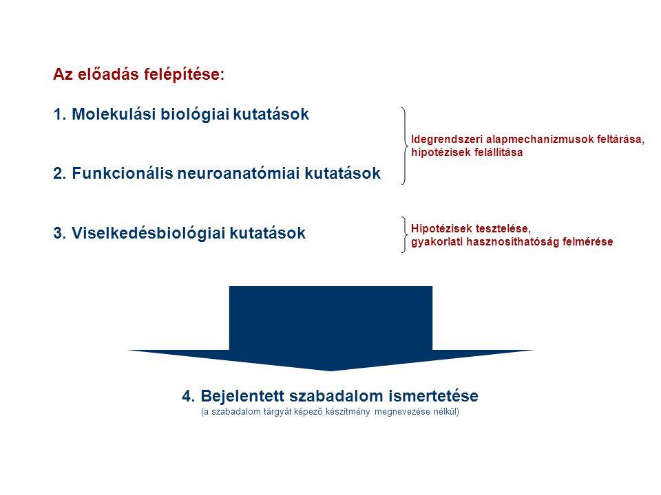 Az előadás felépítése: 1. Molekulási biológiai kutatások 2.