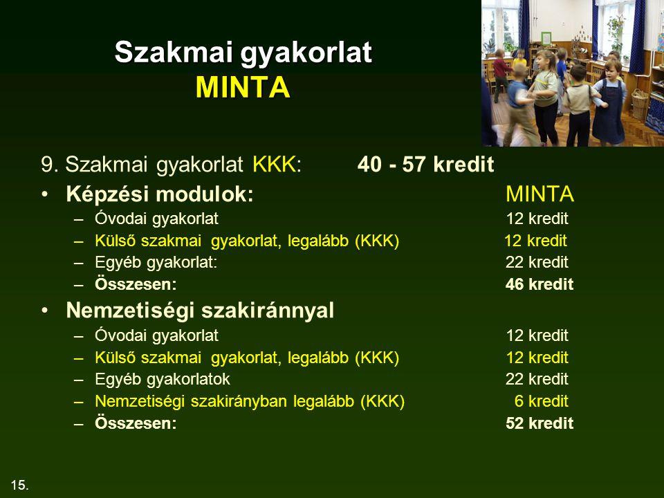 15.Szakmai gyakorlat MINTA 9.
