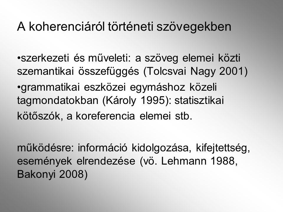 A határozói igenévi állítmány és a koherencia viszonya 1.