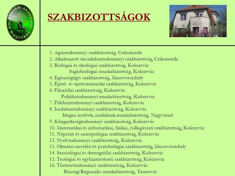 1. Agrártudományi szakbizottság, Csíkszereda 2.