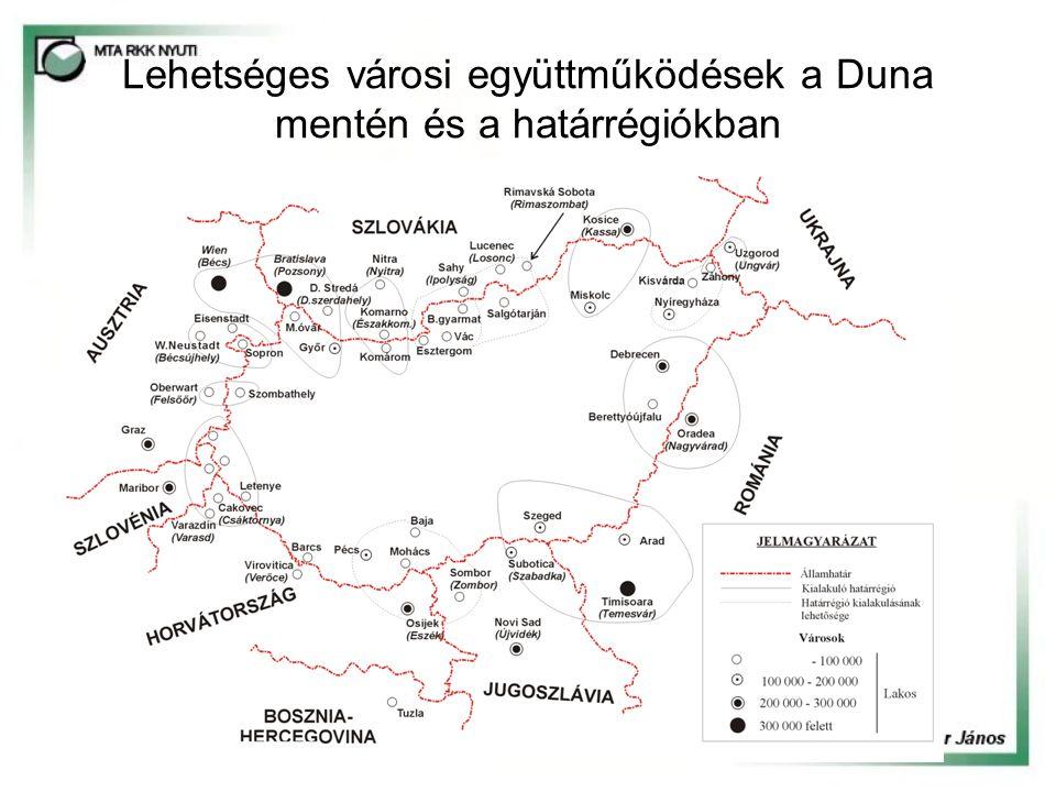 Lehetséges városi együttműködések a Duna mentén és a határrégiókban
