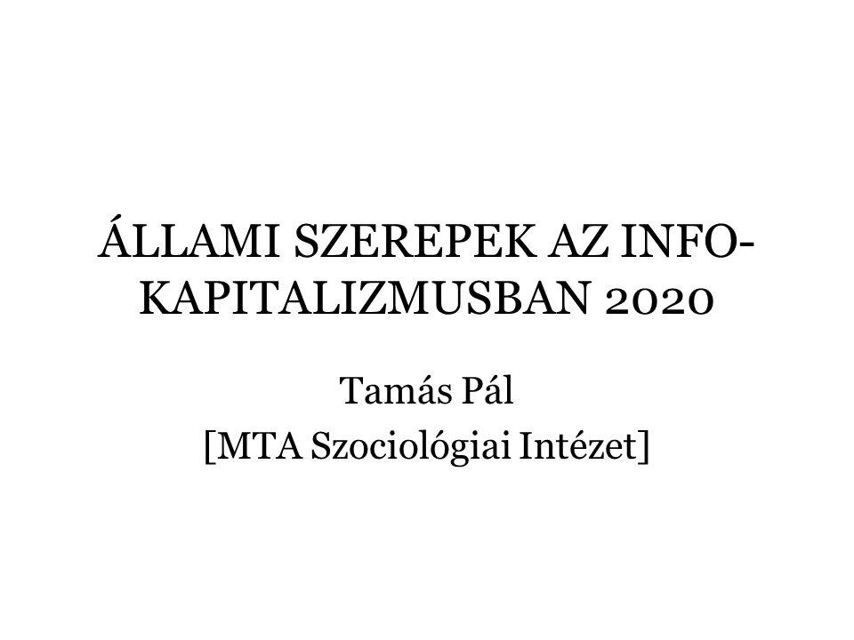 ÁLLAMI SZEREPEK AZ INFO- KAPITALIZMUSBAN 2020 Tamás Pál [MTA Szociológiai Intézet]