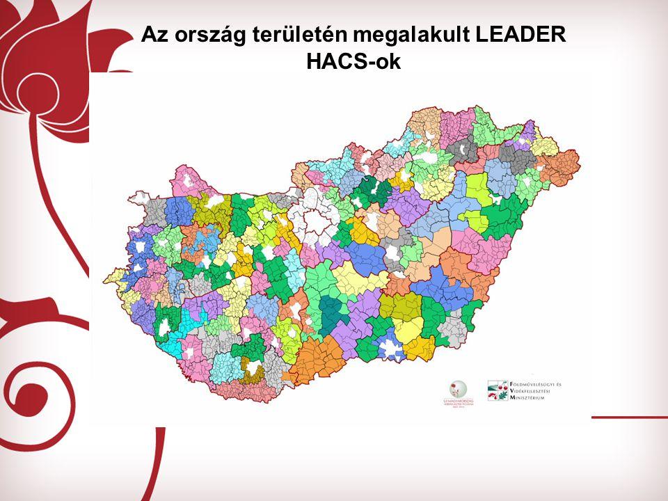 Az ország területén megalakult LEADER HACS-ok